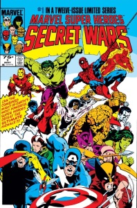 Cover to Secret Wars (1984) #1!